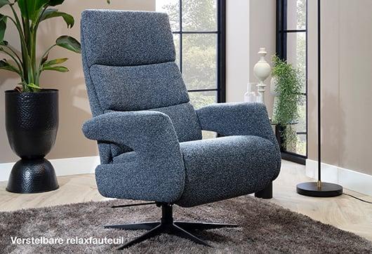 Comfortabel zitten in verstelbare relaxfauteuil van Budget Home Store