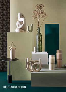 Elegante accessoires in rustig retro interieur bij Trendhopper