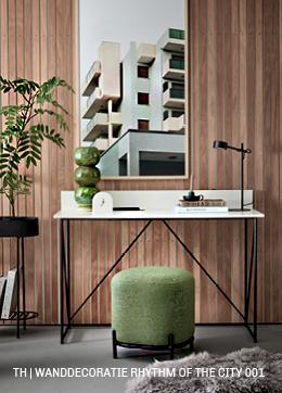 DIY houten wanddecoratie in de werkkamer bij Trendhopper
