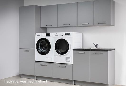 inspiratie wasmachinekast met kraan en spoelbak bij Budget Home Store