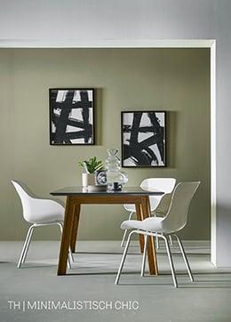 Vorm en kleur in minimalistisch chic interieur bij Trendhopper