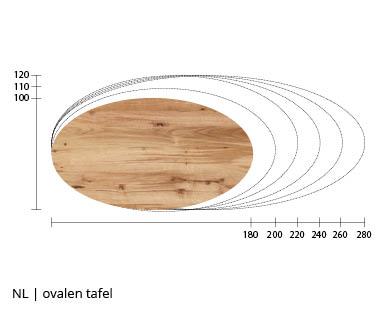 NLwoont ovalen eettafel op maat