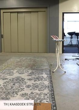 Trendhopper DIY wandkleed kaasdoek strijken