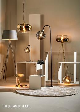 Trendhopper lampen van glas en staal