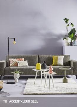 Tips inspiratie van Trendhopper accentkleur geel in je interieur.