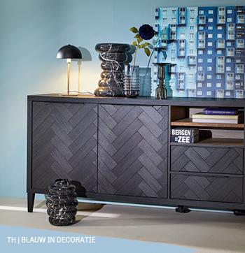 Accentkleur blauw in Trendhopper decoratie