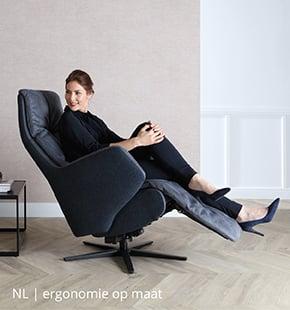 Verstelbare relaxstoel met ergonomie op maat bij NLwoont