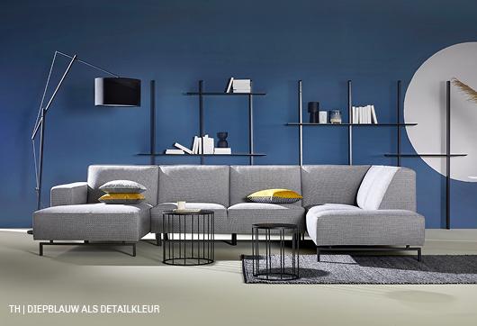 Trendhopper tip diepblauw laat naturel pastel interieur spreken
