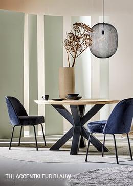 Tips inspiratie van Trendhopper accentkleur blauw in je interieur.