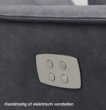 Budget Home Store relaxfauteuil elektrisch of handmatig verstelbaar