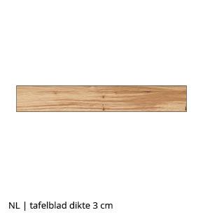 NLwoont tafel op maat met tafelblad 3 cm