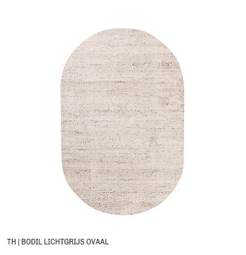 trendhopper ovalen vloerkleed op maat bodil lichtgrijs