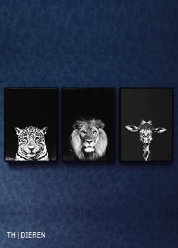 inspiratie voor wanddecoratie met foto met dier bij trendhopper
