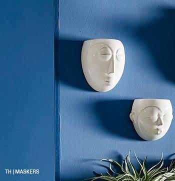 inspiratie voor wanddecoratie met masker bij trendhopper