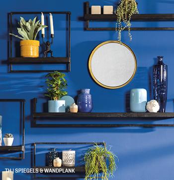 inspiratie voor wanddecoratie met spiegel naast wandplank bij trendhopper