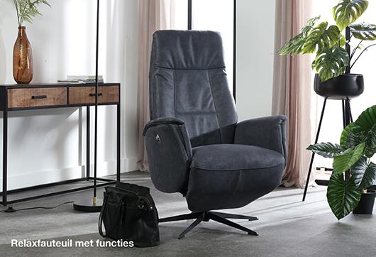 Ontspannen in een relaxfauteuil met extra functies van Budget Home Store