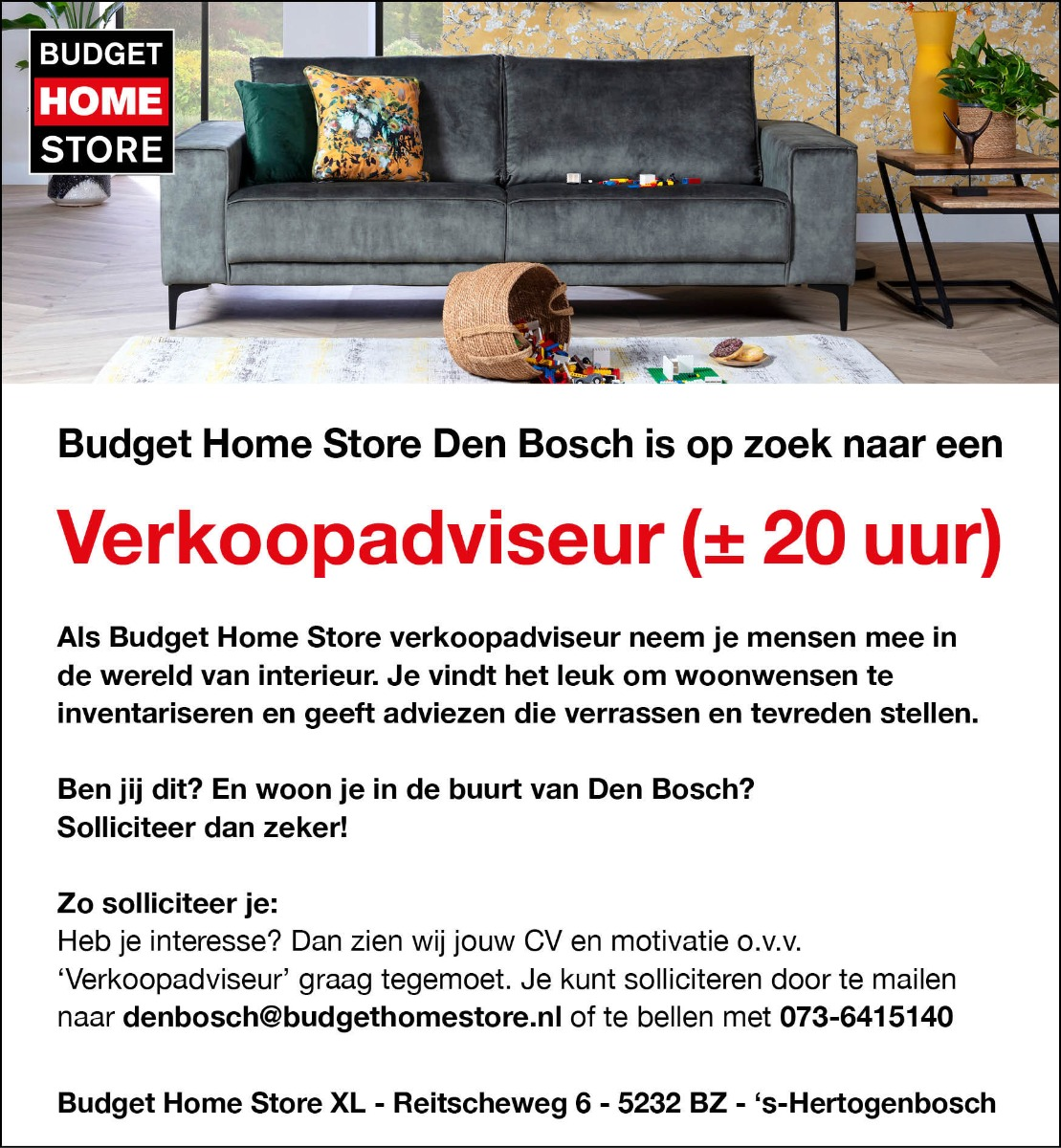 Werken bij BHS Den Bosch