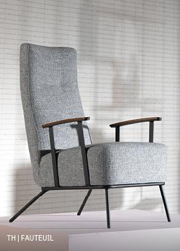 fauteuil in opvallend fifties ontwerp die ultiem lekker zit door kwalitatieve koudschuimvulling uit de Trendhopper woonwinkel