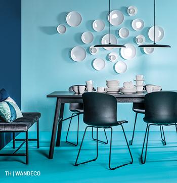 inspiratie voor wanddecoratie met borden van servies bij trendhopper