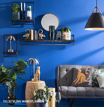 inspiratie voor styling wandplanken als wanddecoratie bij trendhopper