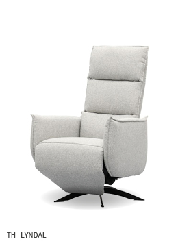 trendhopper relaxfauteuil Lyndal met dichte armleuning