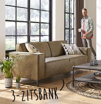 3-zitsbank voor moderne woonkamer bij budget home store