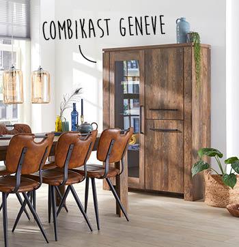 Geneve combikast is een tijdloze kast van woonwinkel budget home store
