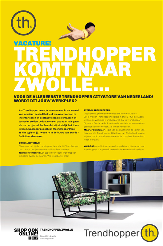Vacature Trendhopper Zwolle