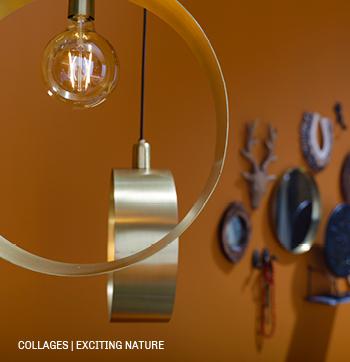 Collage met woonaccessoires en lampen #Trendhopper #interieur #inspiratie #verlichting