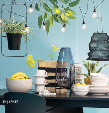 inspiratie trends tips van trendhopper tropical cool in het lente interieur #tafel #partylights