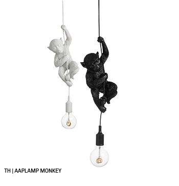 inspiratie trends tips van trendhopper: aaplamp monkey in het lente interieur