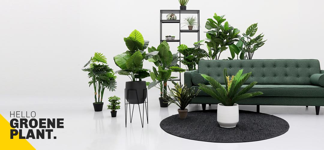 Planten in plantenstandaard #kamerplanten #kunstplanten #bloempot #trend #interieur #inspiratie